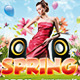 Easter Party And Spring Party Flyers PSD Templates - GraphicRiver Item for Sale