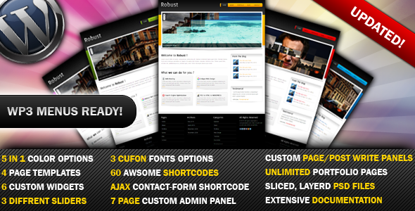 Robust-5 in 1 Business &amp; Portfolio WP Theme