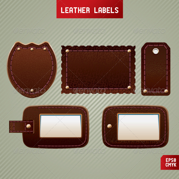 Leather labels - Man-made objects Objects
