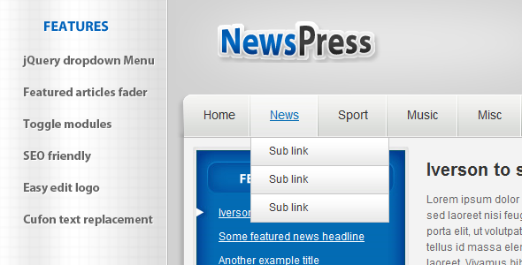 ThemeForest NewsPress HTML 78018