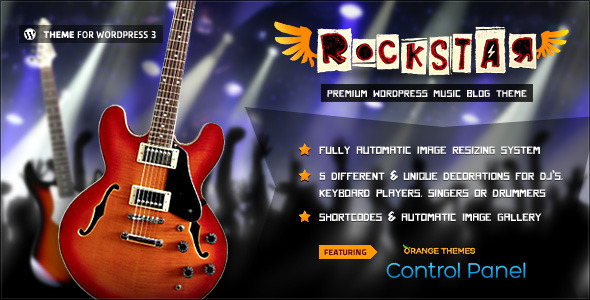 Rockstar - Theme for Music Bands