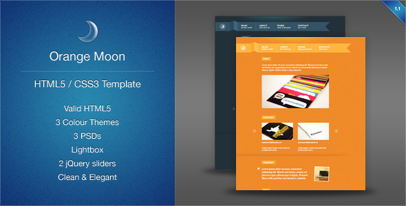 Orange Moon - Portfolio Theme