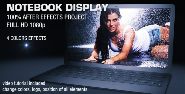 After Effects Project - VideoHive NOTEBOOK DISPLAY 2055548