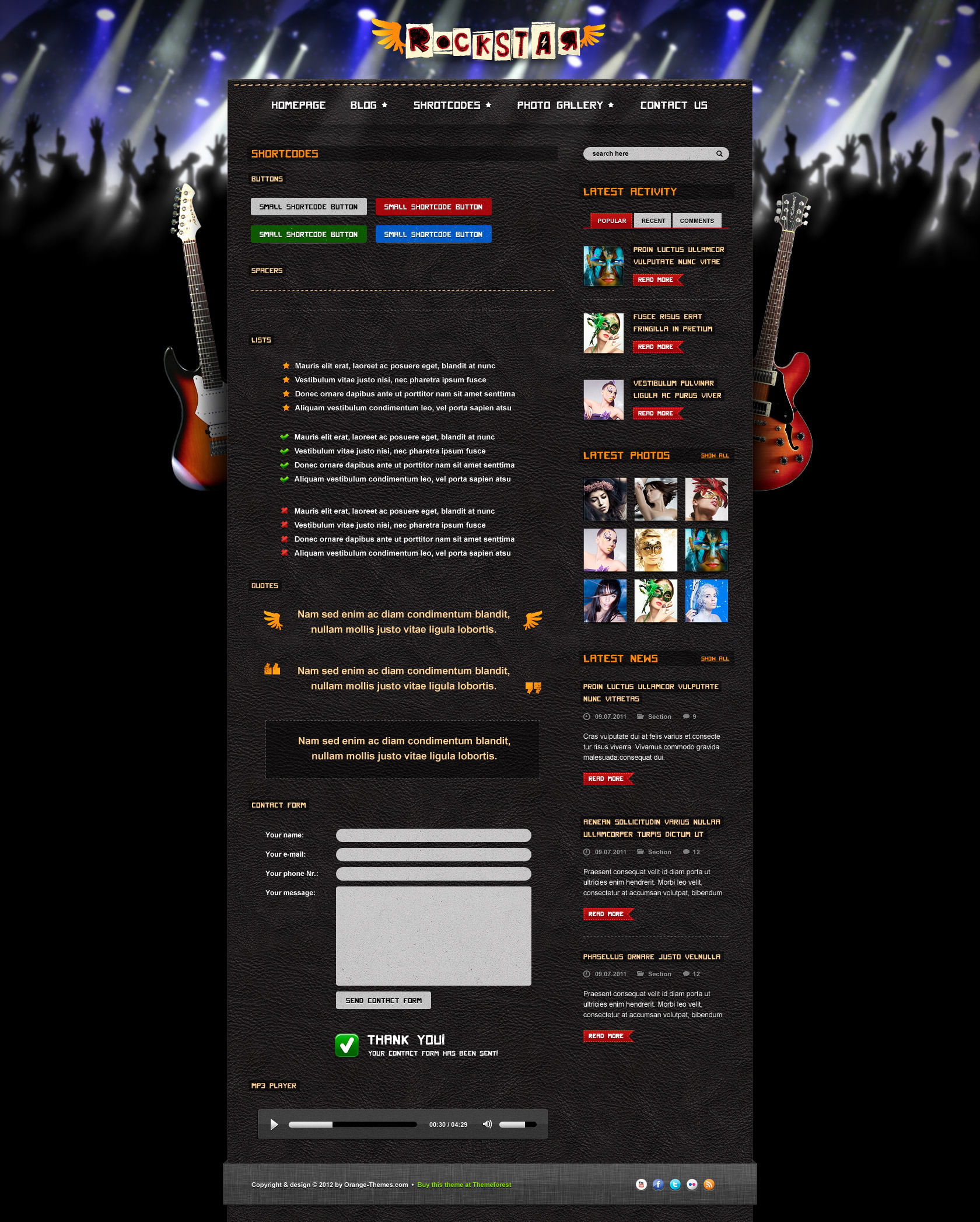 Rockstar - HTML Template for Music Bands