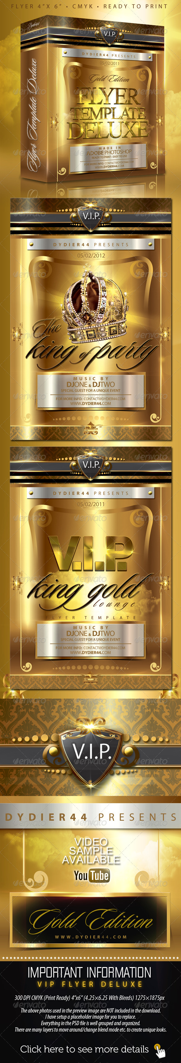 GraphicRiver V.I.P Gold Deluxe Flyer Template 4x6 244898