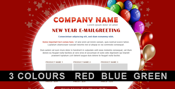 New Year Greetings / Birthday Greetings - 3 COLORs