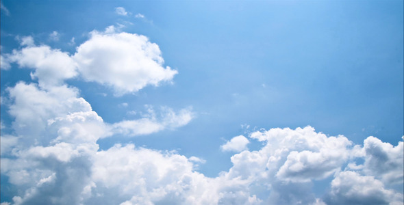 Tropical Blue Sky And Clouds Time Lapse Stock Footage