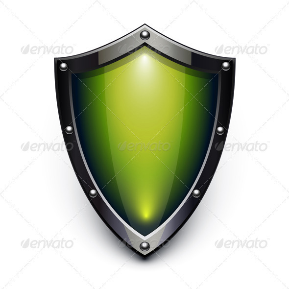 Green security shield - Man-made objects Objects