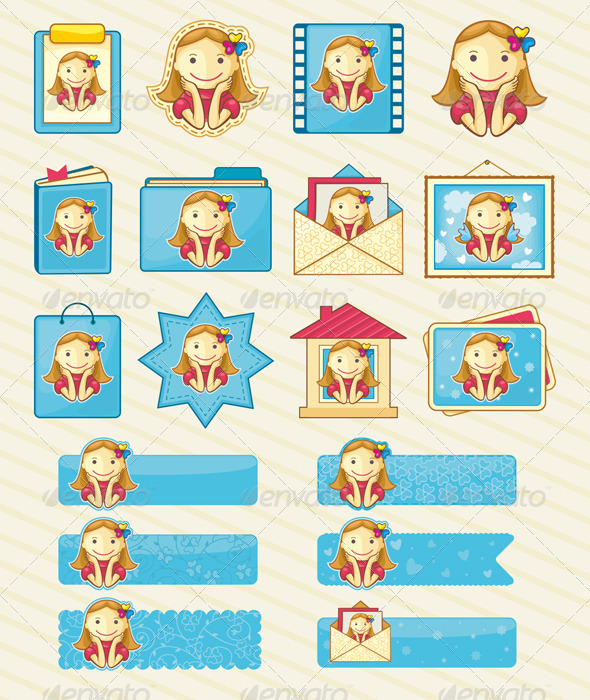 Design Elements - Pretty Girls - People Characters