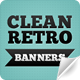 Clean Retro Banners - GraphicRiver Item for Sale