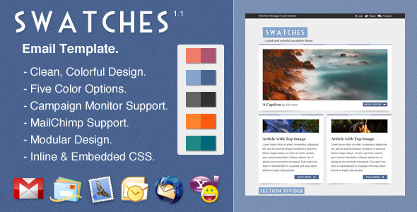 Swatches - Newsletters Email Templates