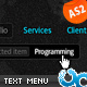 Two Levels Menu 06 Glow AS2 - ActiveDen Item for Sale