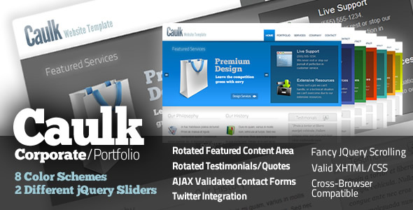 Caulk - Corporate Site Templates