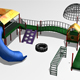 Lowpoly Playground Pieces - 3DOcean Item for Sale