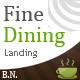 Fine Dining Landing - ThemeForest Item for Sale