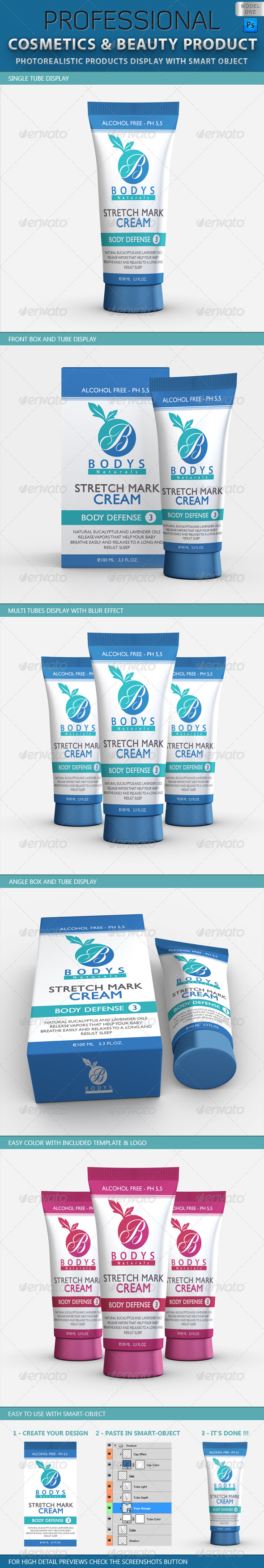 GraphicRiver Cosmetics and Beauty Products Mockup V1 2079271