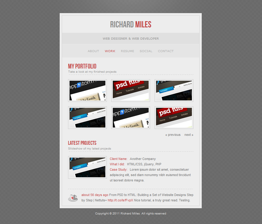 4HIRE - Elegant vCard Template