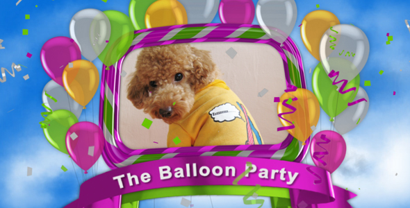 After Effects Project - VideoHive The Balloon Party 238433