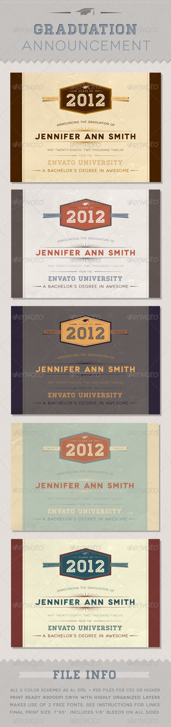 Graduation Announcement - Invitations Cards & Invites