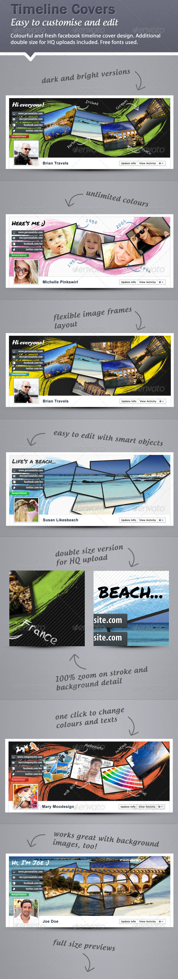 Colorful, Fresh Facebook Timeline Covers - Facebook Timeline Covers Social Media