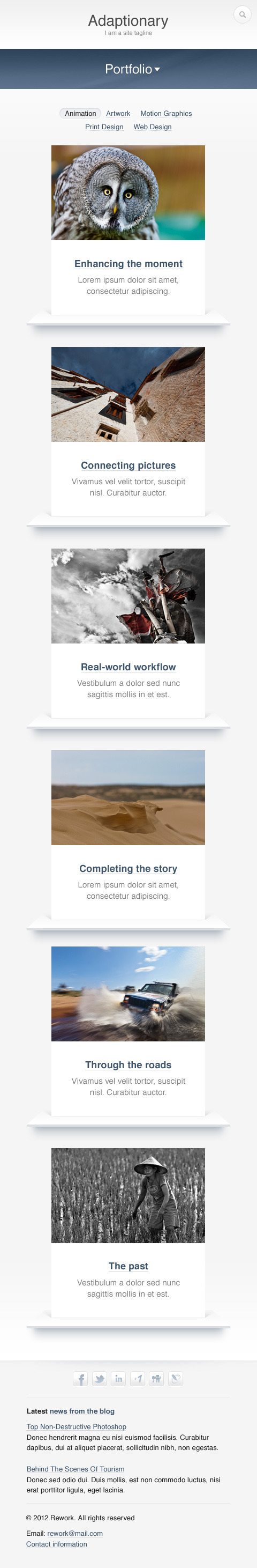 Adaptionary PSD Template
