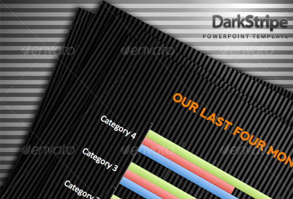 GraphicRiver Dark Stripe Powerpoint Template 79027