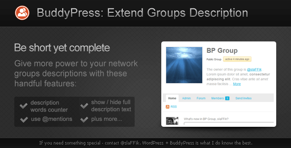 CodeCanyon BP Extend Groups Description 2085768