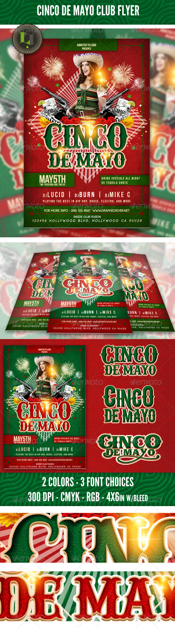 GraphicRiver Cinco De Mayo Club Flyer 2059105