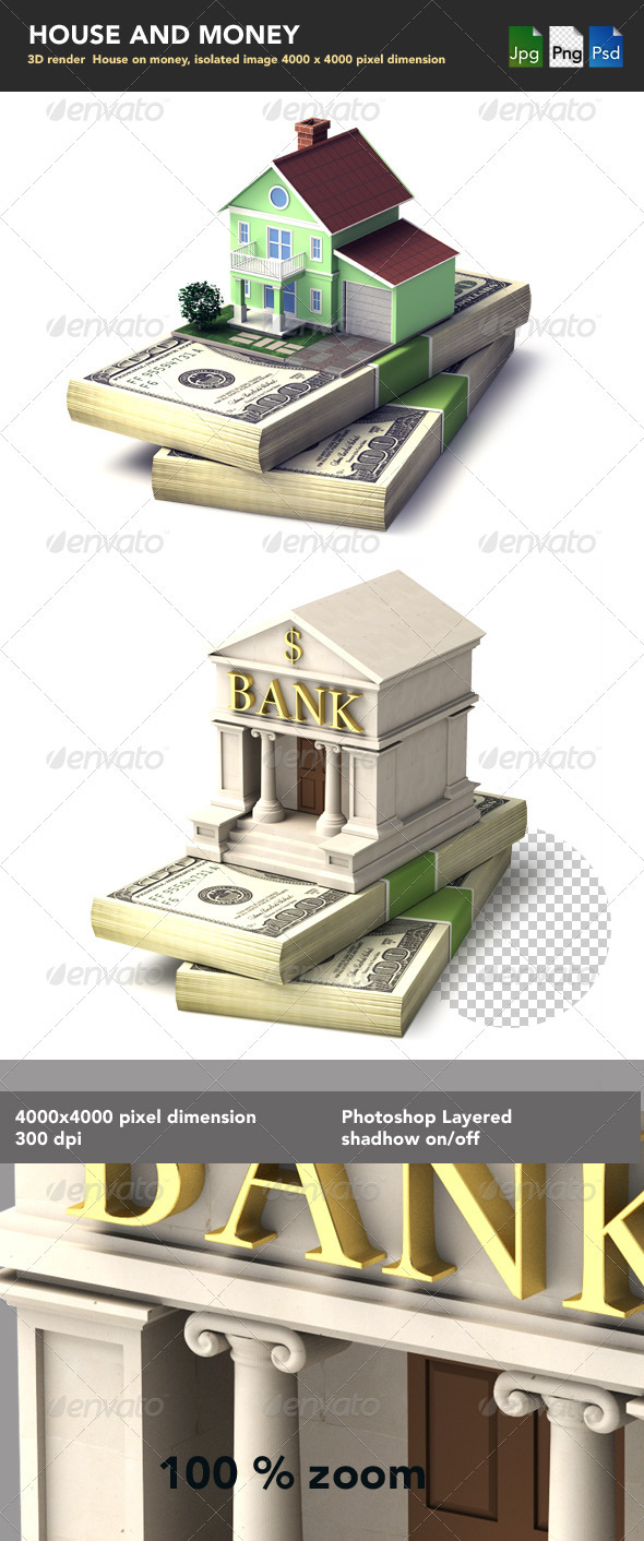 GraphicRiver House on Money Stack 2087943