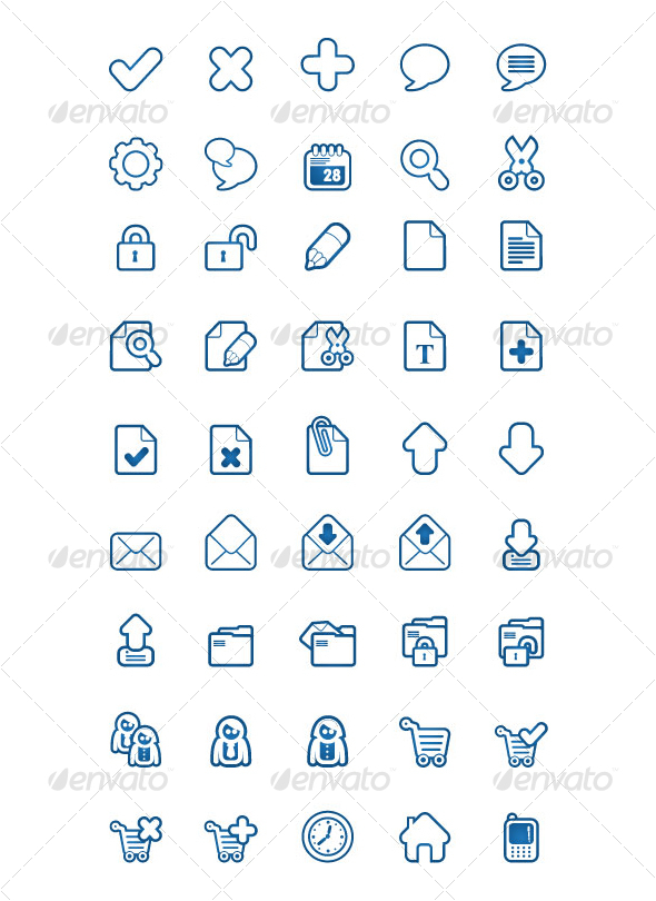 BlueSakura 45 Icon for your project - Business Icons