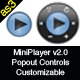 Mini MP3 Player v2.0 (PopoutMenu/Customizable/XML) - ActiveDen Item for Sale