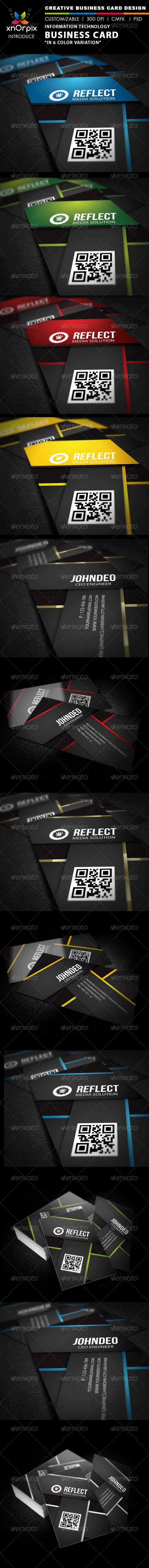 Information Technology Business Card - Corporate Business Cards