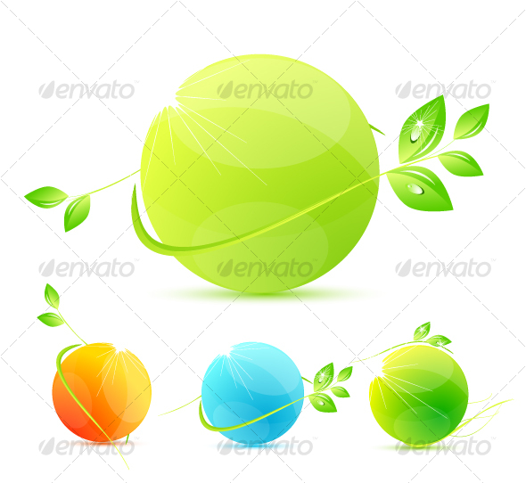 Green concepts - Abstract Icons