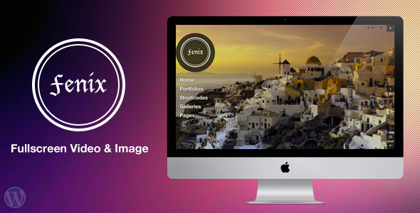 ThemeForest Fenix Fullscreen Video & Image Background 2063700