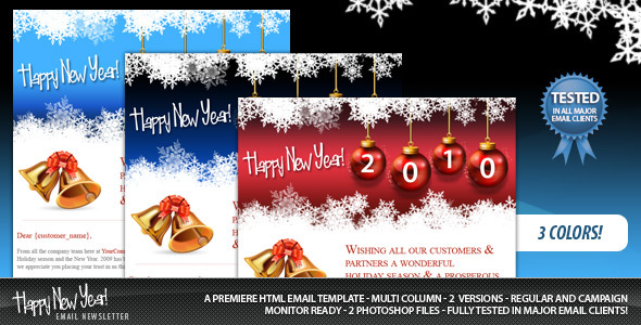 Happy New Year Email - Newsletters Email Templates