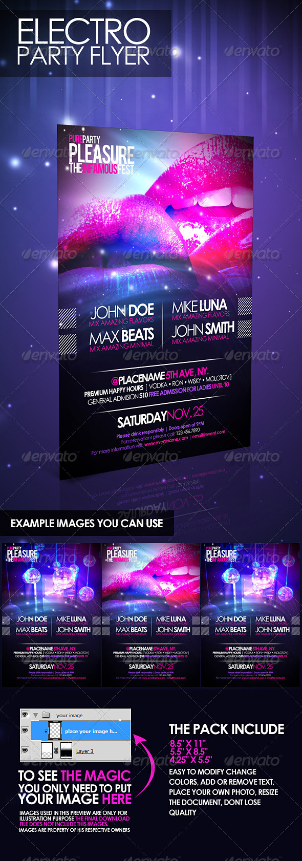 Electro Party Flyer - Clubs & Parties Events