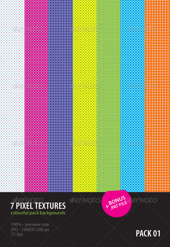 7 Pixel Textures - Abstract Textures