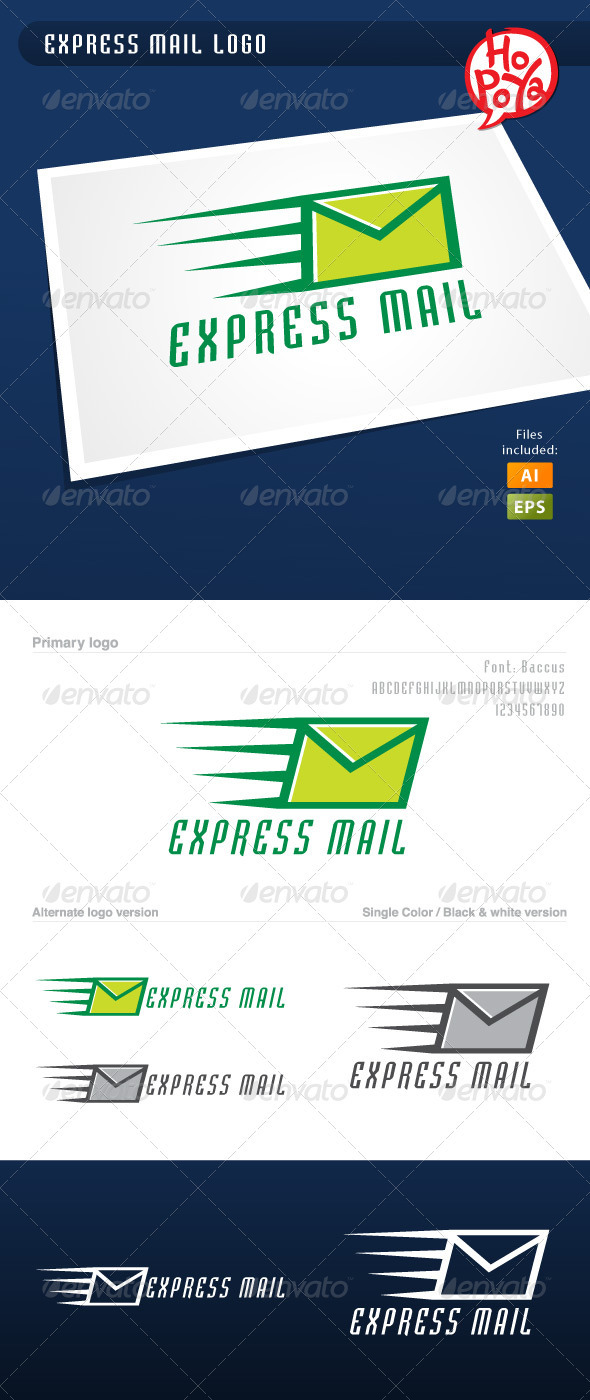 Express Mail Logo - Objects Logo Templates