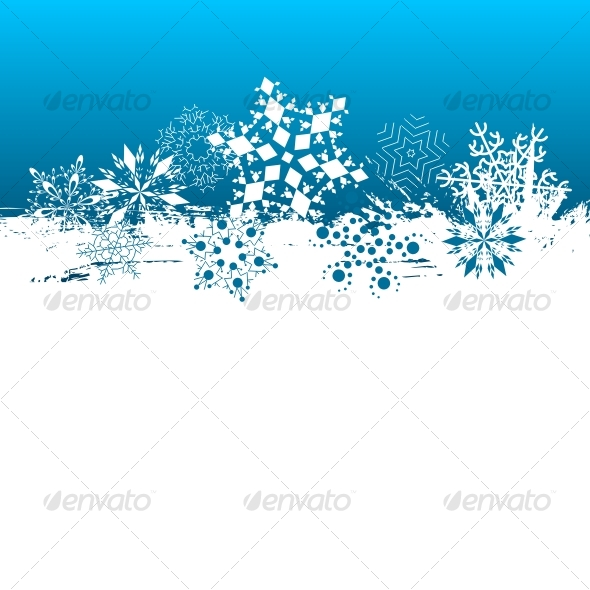Snowflakes background - Backgrounds Decorative
