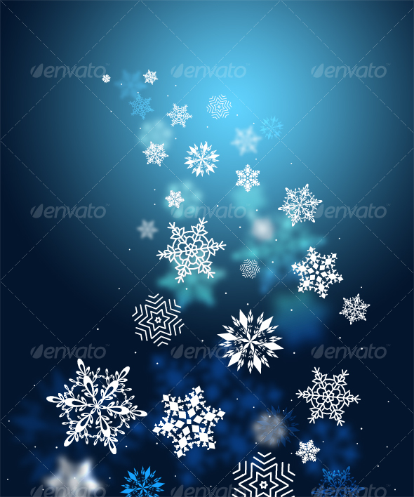 Swirls of snow flakes leading - Backgrounds Graphics