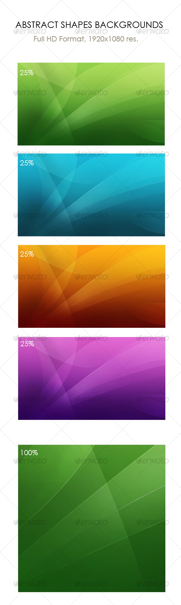 GraphicRiver Abstract shapes backgrounds wallpapers Full HD 70044