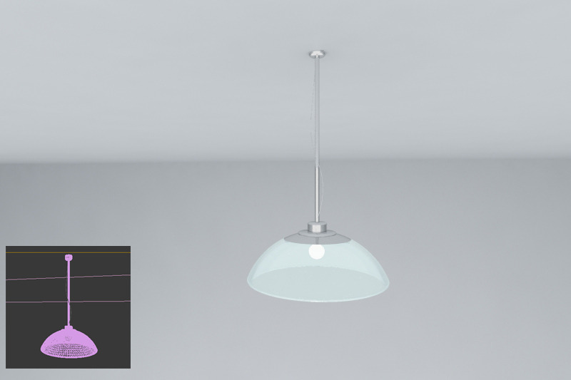 3DOcean ceiling lamp 2103346