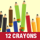 School crayons business perfect tool for drawing - GraphicRiver Item for Sale