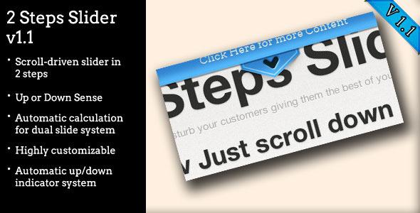 CodeCanyon Two Steps Slider 1991357