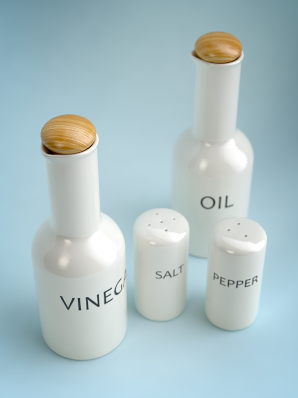 Oil, Vinegar, Salt & Pepper SET I - 3DOcean Item for Sale