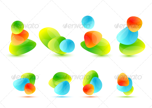 Colourful abstract icons - Decorative Symbols Decorative