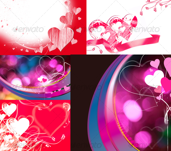 Valentine's cards - Abstract Illustrations