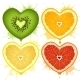Vector citrus hearts - GraphicRiver Item for Sale