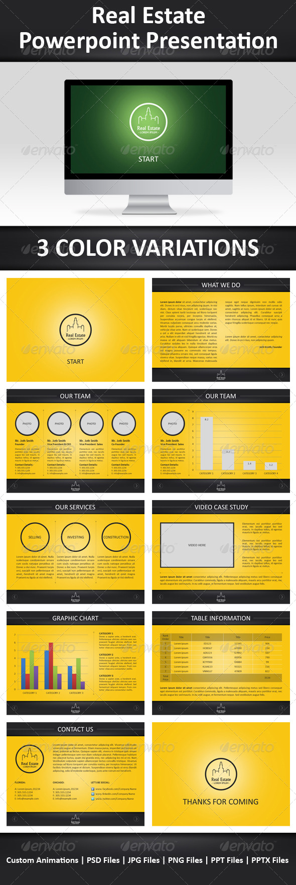 GraphicRiver Real Estate Powerpoint Template 239653