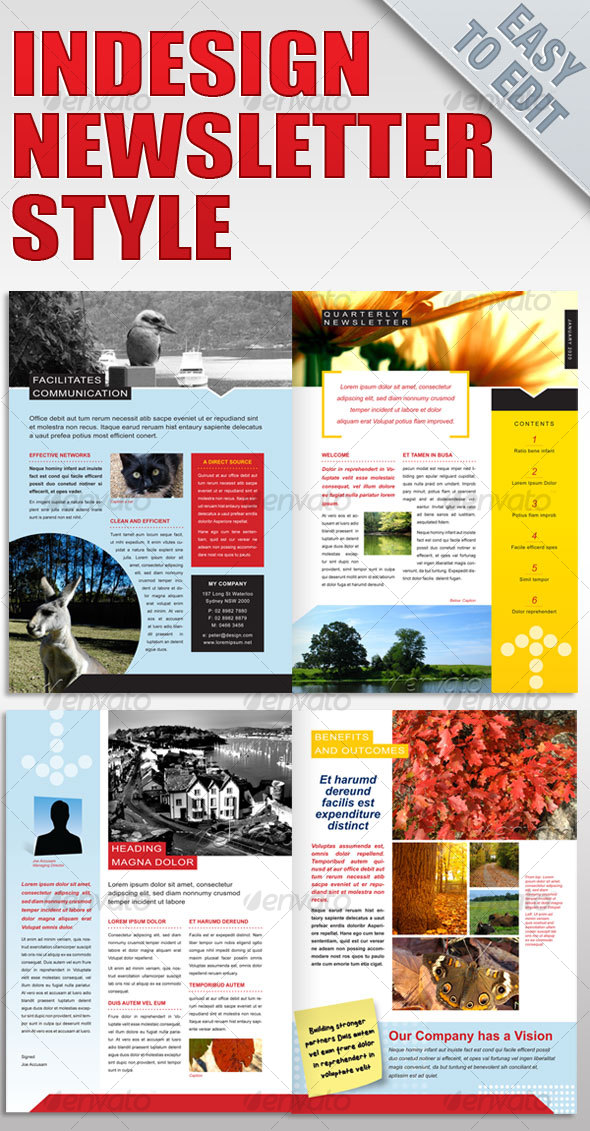 Newsletter style template graphicriver for Free indesign newsletter templates